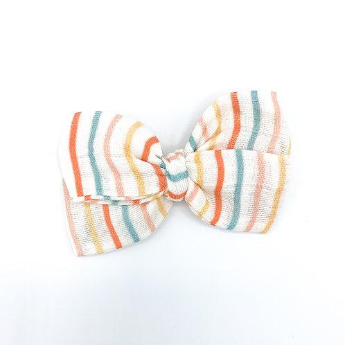 Summer Fruit Stripe Gauze Bow