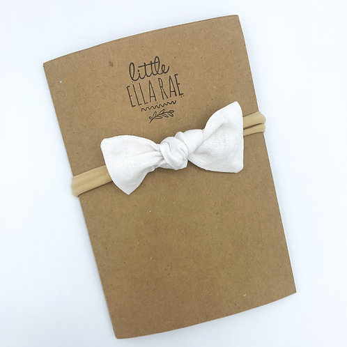 White Linen Essie Bow