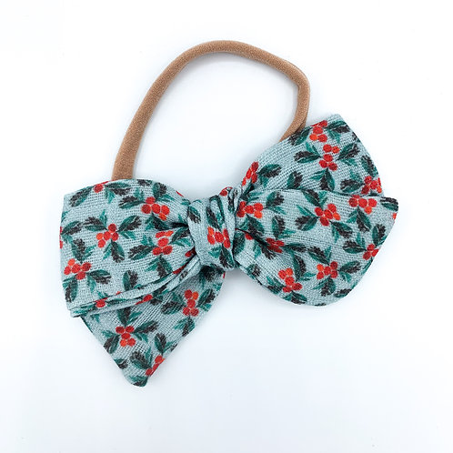 Holly Berry Gauze Bow