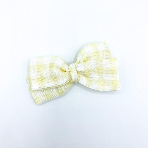Yellow Gingham Gauze Bow