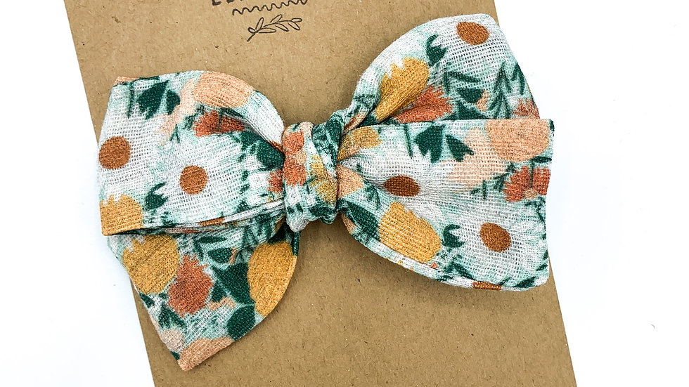 Mini Juliet Floral Gauze Bow