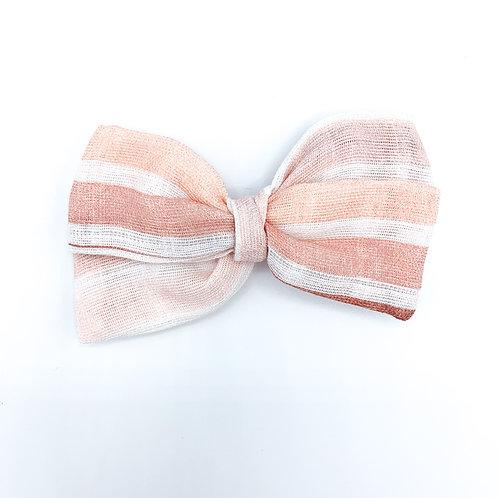 Pink Ombre Stripe Gauze Bow