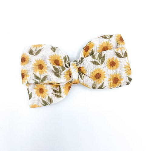 Sunflower Garden Gauze Bow