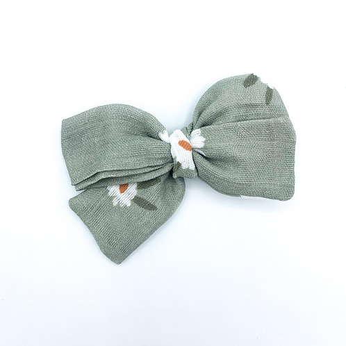 Olive Blossom Gauze Bow
