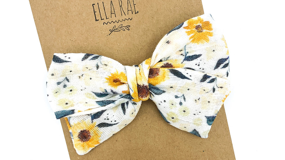 Mini Sunflower Gauze Bow