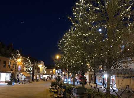 Christmas lights in Henley..