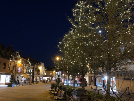 Christmas lights in Henley..