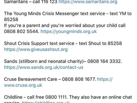 Support Numbers..