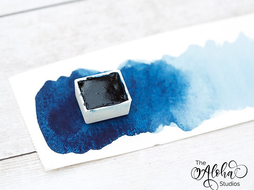 MOANA prussian blue/ artisanal honey based handmade watercolor / prussian blue a
