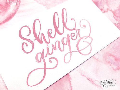 Pre-order Shell ginger / pastel pink / opaque watercolor