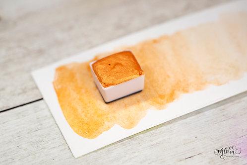 TANGERINE / orange shimmer watercolor