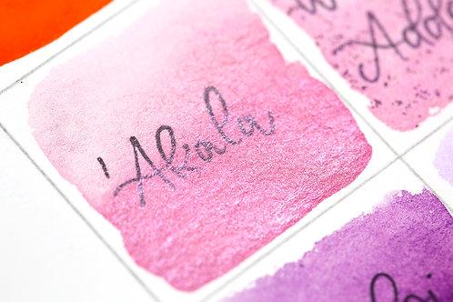 AKALA pink metallic paint / honey based watercolor handmade in Hawaii
