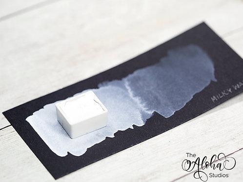 MILKY WAY, opaque titanium white/ handmade / lightfast