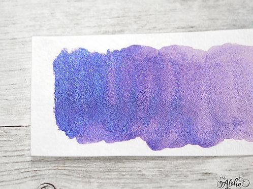 MAUNA LOA duochrome blue & purple paint / honey based handmade watercolo