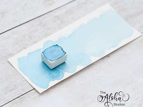 HIGH SURF light blue shimmer / honey-based watercolor / organic honey / lightfas