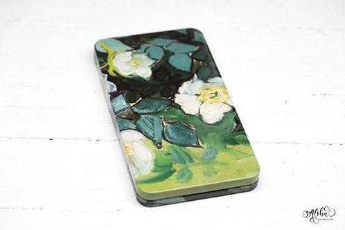 Canvas flowers tin for 40 half pans