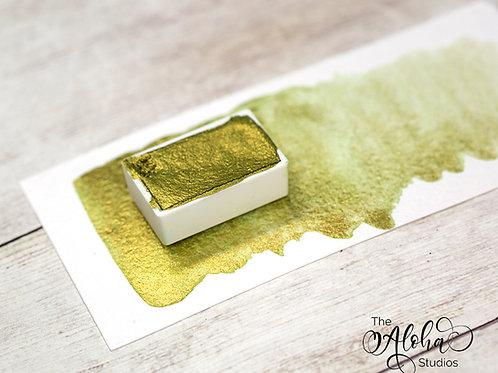 GOLDEN CACTUS metallic watercolor/ handmade duochrome watercolor