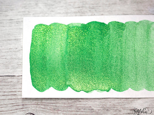 WAIPIO green metallic paint / honey based watercolor handmade in Hawai