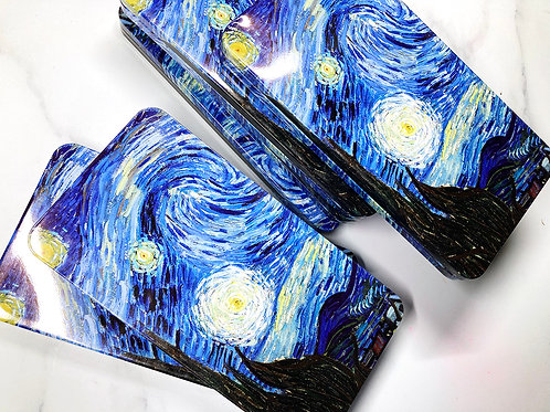 Starry night  tin with minor dents/scratches