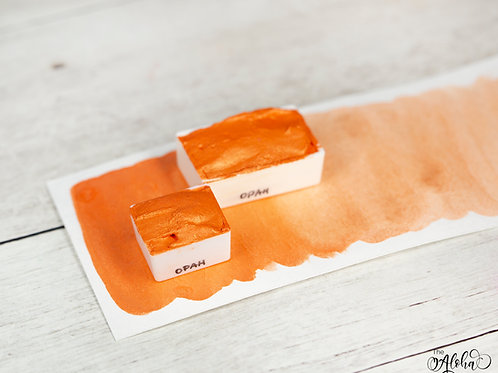 OPAH orange metallic watercolor / honey based paint handmade in Hawaii
