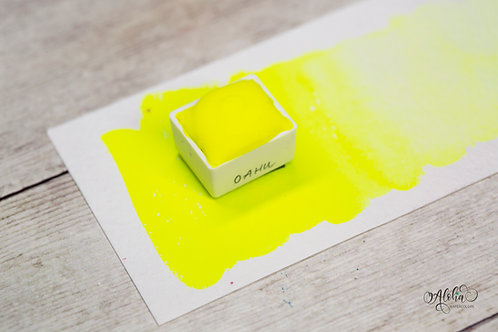 O'AHU neon yellow watercolor / honey based handmade paint / Artisanal watercolor