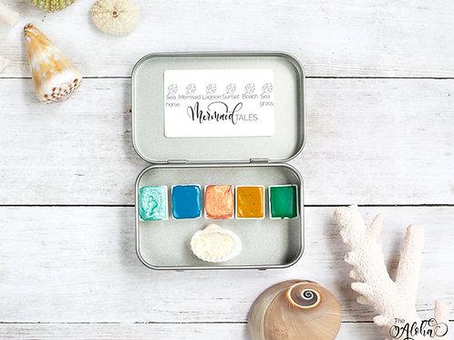 MERMAID TALES handmade watercolor set