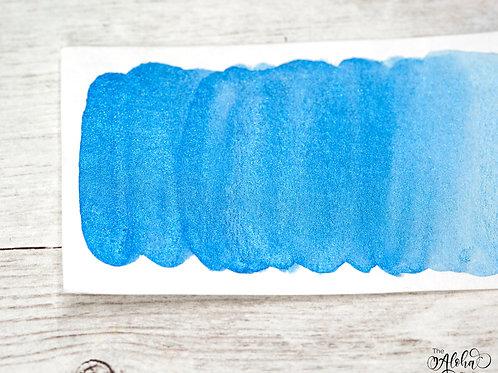 BLUE HAWAII blue metallic paint / honey based handmade watercolor