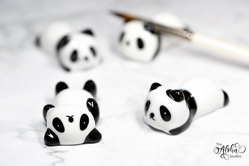 Brushrest Panda / ceramic figurine  / brush holder panda