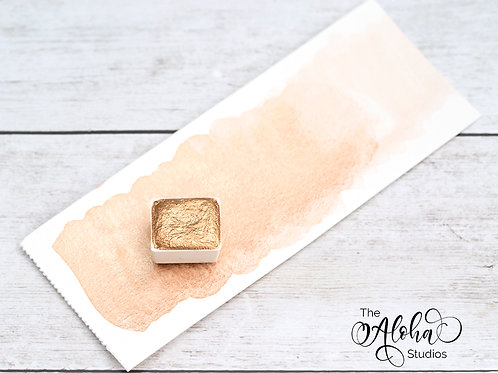KONA JAZZ shimmer paint / Coppery gold handmade paint