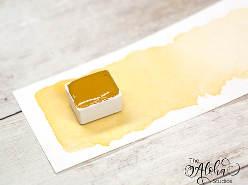 BEACH yellow ochre / honey-based lighfast watercolor paint