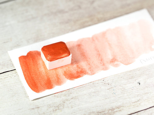 PUMPKIN orange watercolor /handmade honey-based watercolor