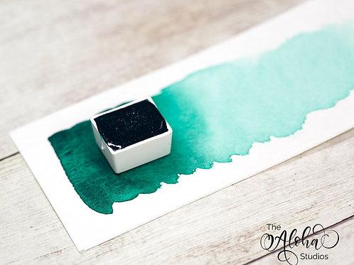 JUNGLE handmade watercolor / artisanal paint / honey-based watercolor phtalo gre