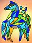 vitrail cheval