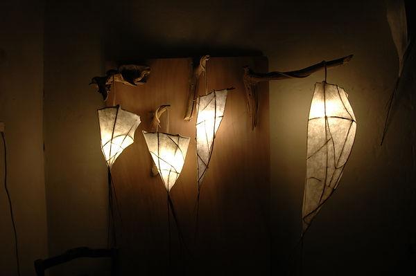 lampe écologique - création artisanat
