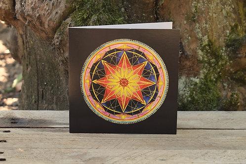Carte Mandala - Rayonnement