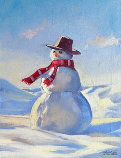 3-christmas-oil-painting-snowman-roland-