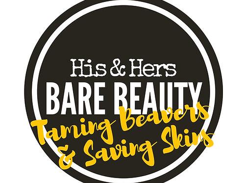 """Sticker Logo """"Taming Beavers and Saving Skins"""""""