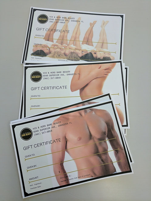 Gift Certificate | Gift Card | Gift Voucher