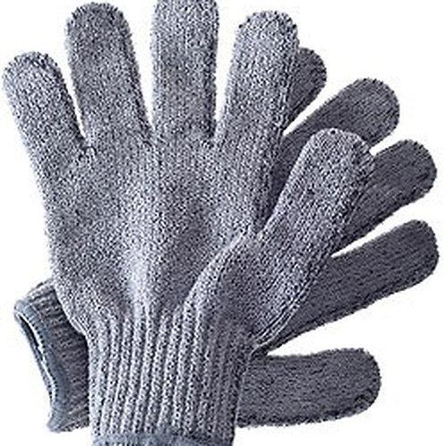 exfoliate scrub dead skin smooth glowing skin soft healthy gloves shower bath
