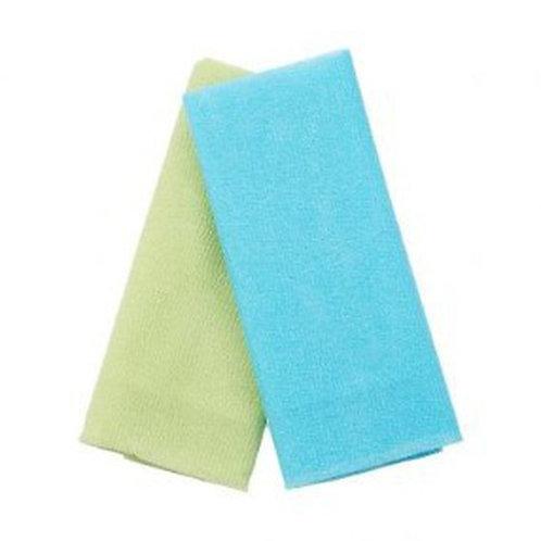 bath scrubber exfoliate polish skin shower towel glowing beauty skincare