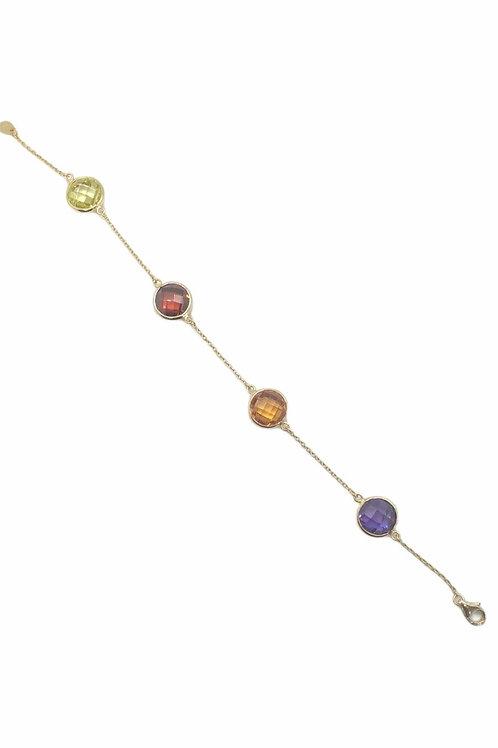Γυναικείο βραχιόλι επιχρυσωμένο 925