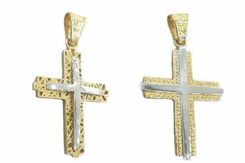 Δίχρωμος σταυρός με δύο όψεις