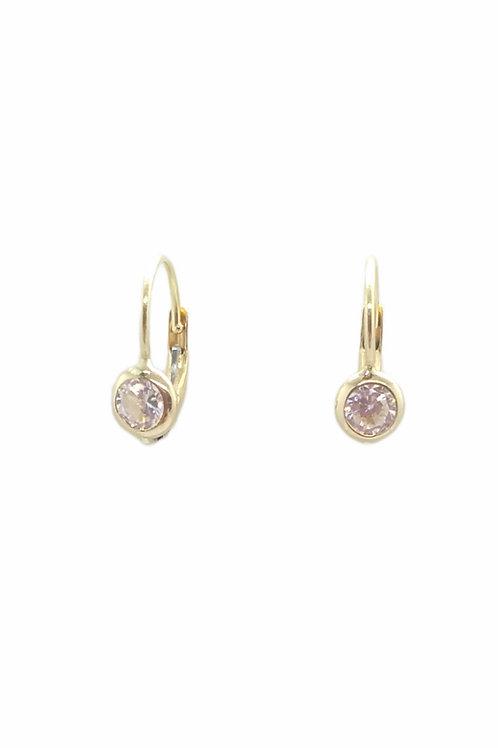Παιδικά χρυσά σκουλαρίκια Κ14 μονόπετρο