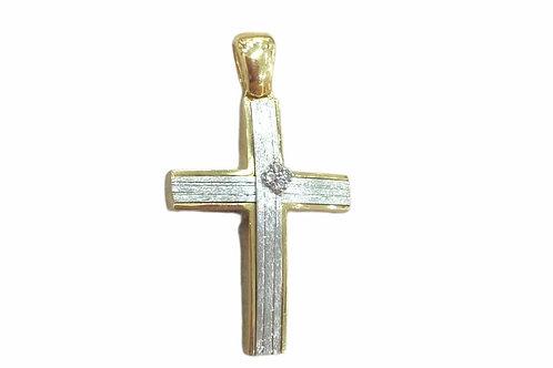 Δίχρωμος σταυρός Βάπτισης ή αρραβώνα