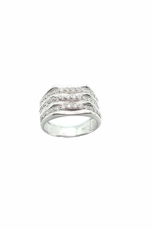 Γυναικείο ασημένιο δαχτυλίδι με πέτρες