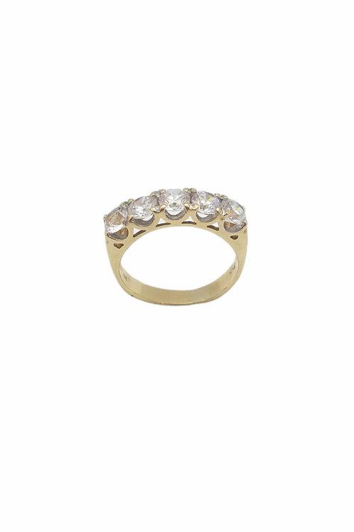 Γυναικείο δαχτυλίδι σειρέ με τετραγωνισμένες πέτρες
