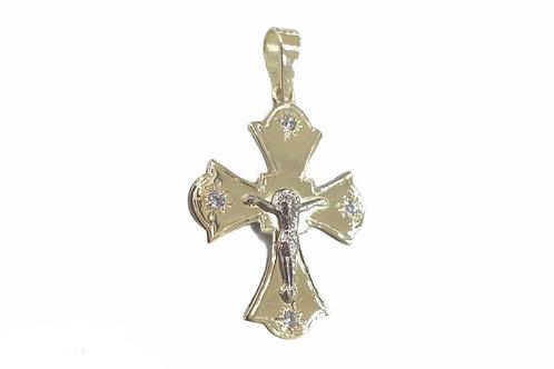 Χρυσός σταυρός Κ14 βάπτισης ή αρραβώνα
