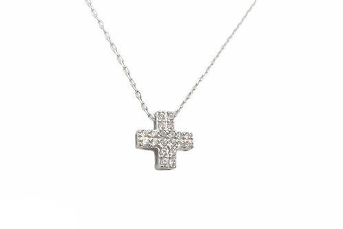Γυναικείος σταυρός με πέτρες