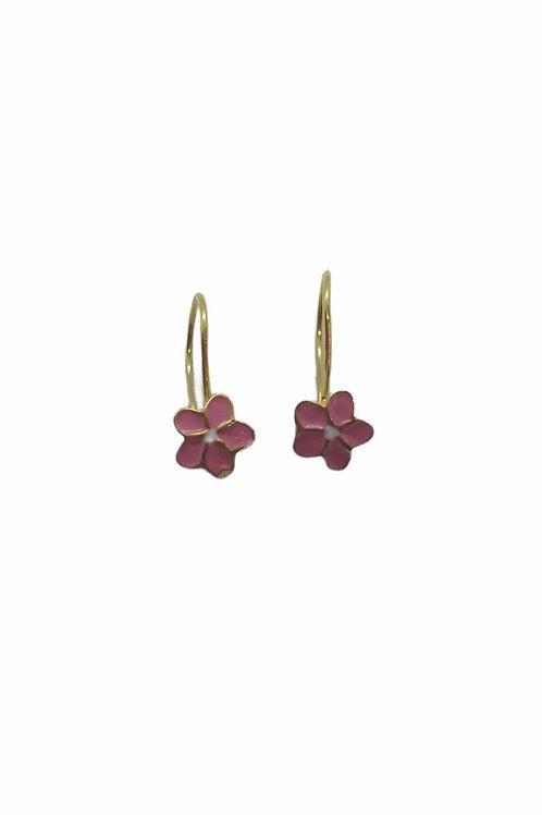 Παιδικά χρυσά σκουλαρίκια χρυσά λουλουδάκια