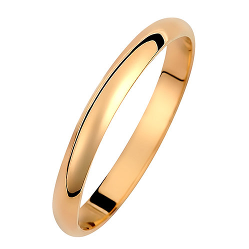 Χρυσή βέρα Κ14 μπουλ απλή 2.5mm